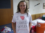 Personal message to Skyler from Ashley