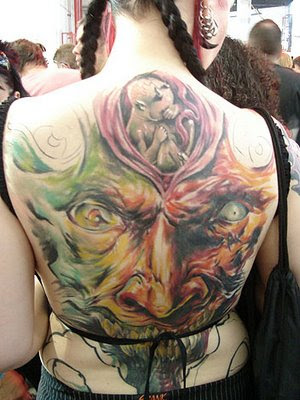 Beautiful Back Body Tattoo for Girls