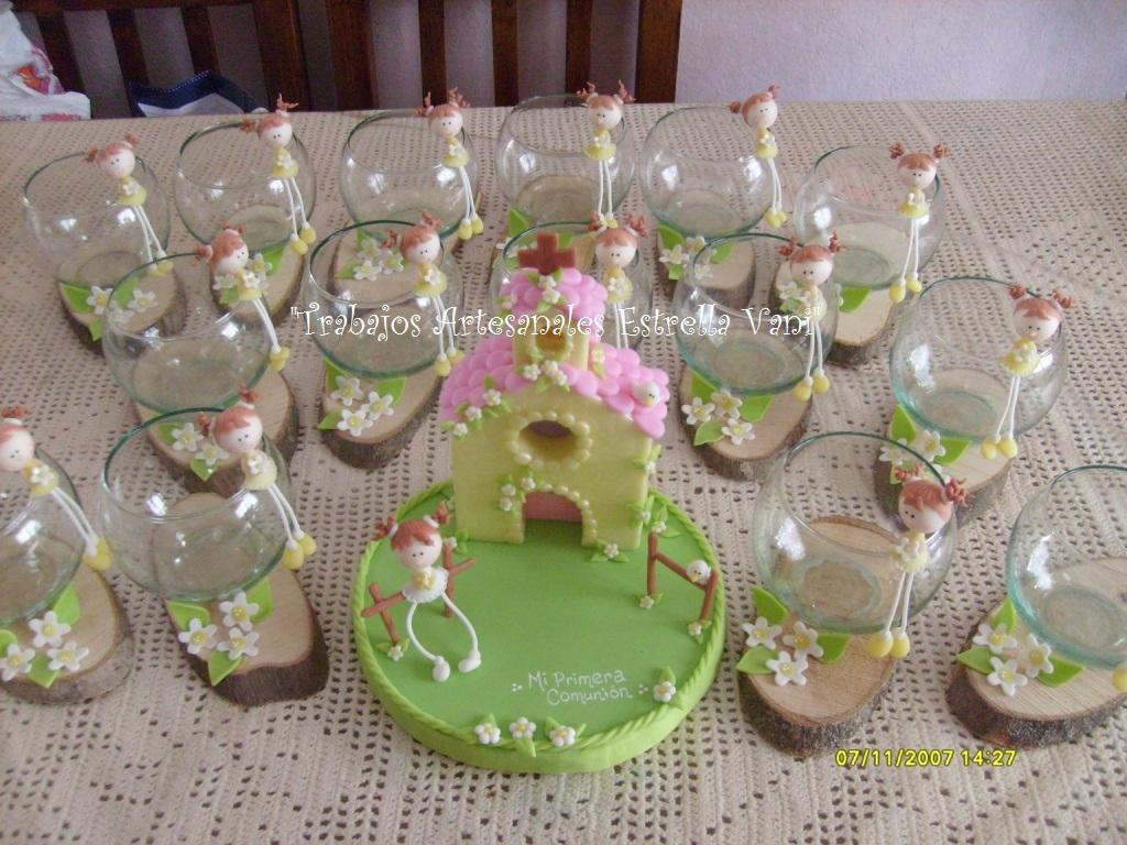 Centro De Mesa Para Colocarle Un Veloncito  Con Nenita De Porcelana