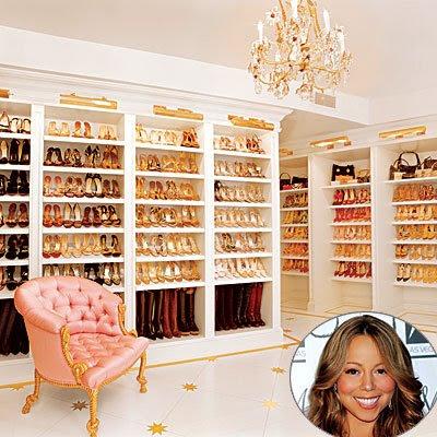 Celebrity closets eva longria nicky hilton paula abdul for Mariah carey jewelry line claire s