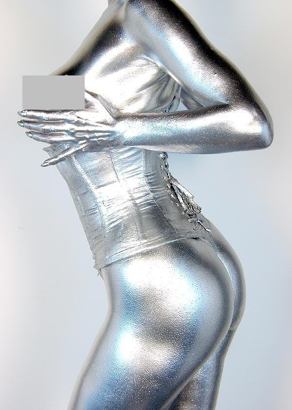 Pictures of Silver Body Painting