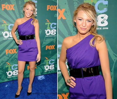 Blake Lively Maxi Dress on Blake Lively  Aka Serena Van Der Woodsen  Sported A Mini Purple One