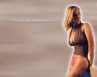 Russian retired competitive ice dancer, singer, actress and model Anna Semenovich