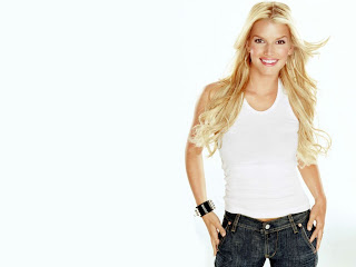 American television and film actress Jessica Simpson