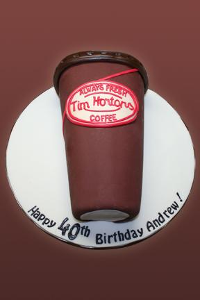 Tim Hortons Coffee Cup Birthday Cake Kathy Dvorski Cakes