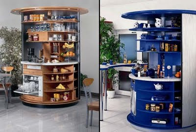 Modern Revolving Circular Kitchen from Compact Concepts
