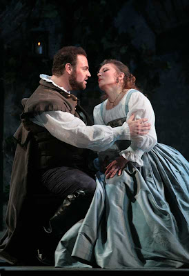 Joseph Calleja (Duke of Mantua) and Lyubov Petrova (Gilda) in Rigoletto, Washington National Opera, 2008, photo by Karin Cooper