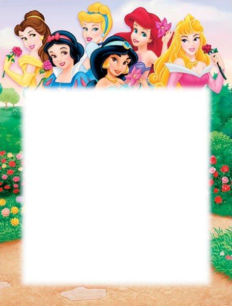 Princesas Disney: Marcos para Fotos- Todo Tarjeteria