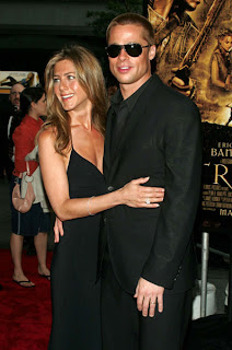 Jennifer Aniston Brad Pitt couple Troy