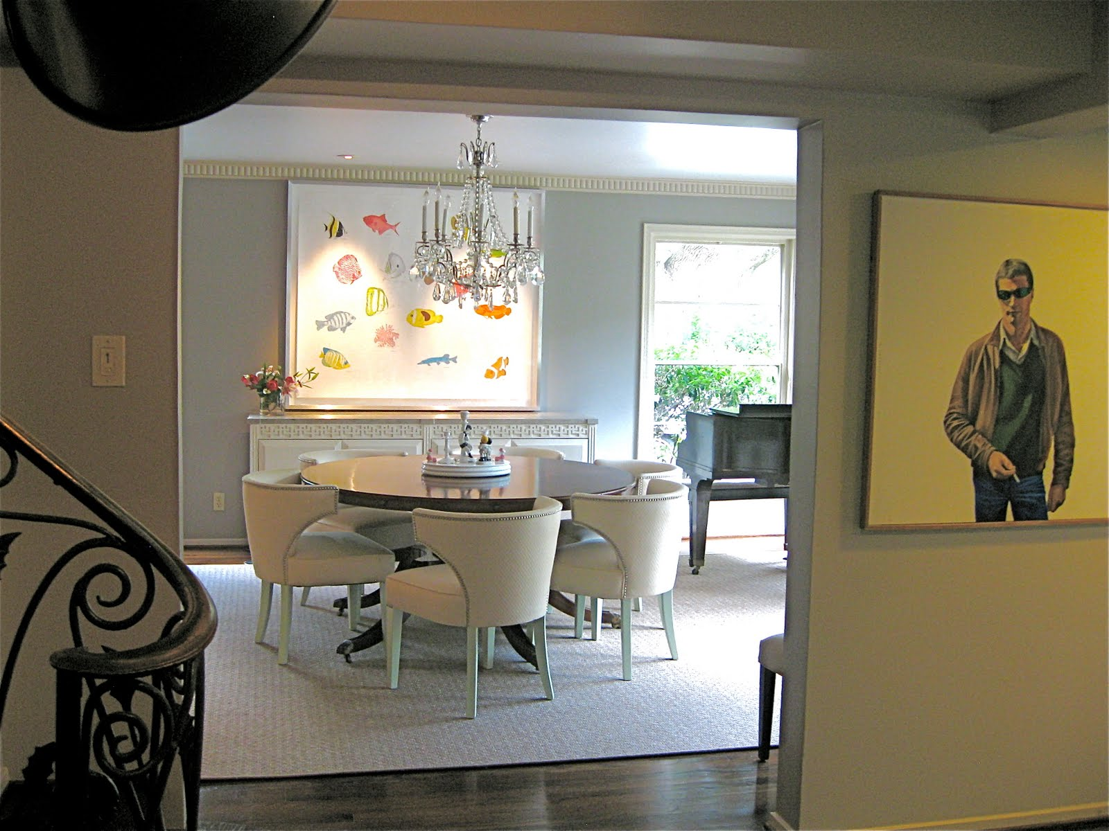 Houses Gardens People  Art Dealer Kristy Stubbs at Home. Piano Dining Room Table. Home Design Ideas