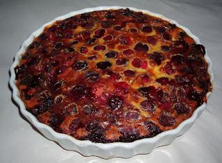 a cherry Clafoutis