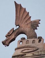 a wyvern on a Leicester roof