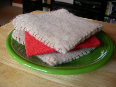 felted wool sandwhich