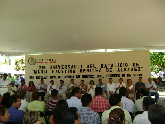 215 ANIVERSARIO DEL NATALICIO DE MARIA FAUSTINA BENITEZ DE ALVAREZ