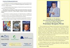 TEXTO PLATAFORMA: FRANCISCO TARAJANO PREMIO CANARIAS DE LITERATURA 2011