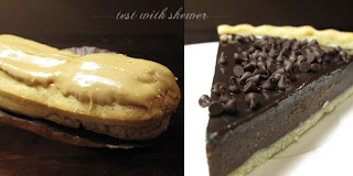 chocolate tart coffee eclair