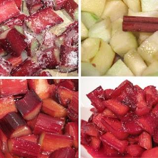 stewed rhubarb and apple