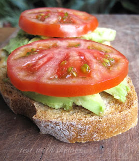 avocado on toast with tomato