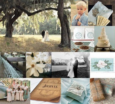 I love this colour scheme for a wedding Pale blue and chocolate is a