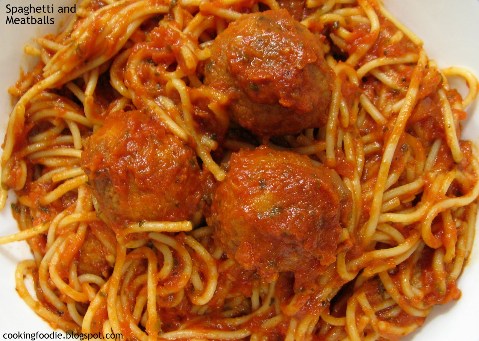 Spaghetti and Meatballs - the vegetarian version