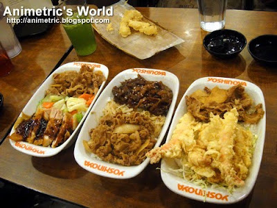 Jumbo Plates at Yoshinoya