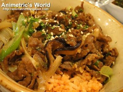 Kimchi Rice with Beef Bulgogi at Angel's Kitchen