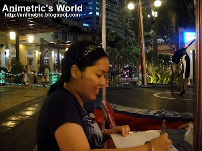 Signing up for Bungee Fun in Eastwood City