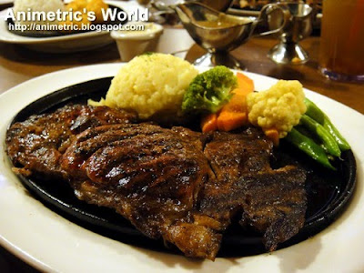 Famous Rib Eye Steak at Holy Cow Steak Ranch and American Grill