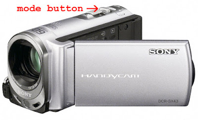 Sony Handycam DCR-SX43 front view