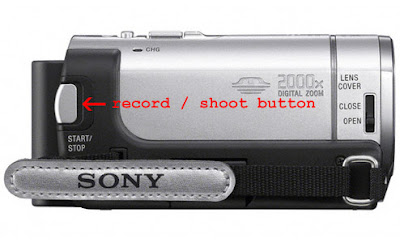 Sony Handycam DCR-SX43 side view