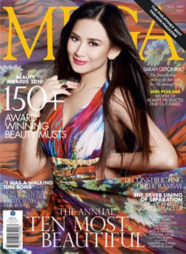 Mega Magazine May 2010 issue with Sarah Geronimo
