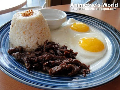 Baang Beef Tapa with Garlic Rice at Baang Coffee