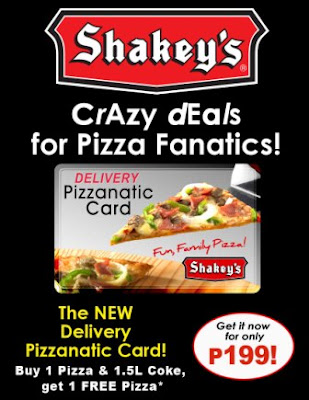 Shakey's Pizzanatic Card