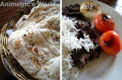 Pita and Chelo Kabab at World Class Persian Kabab
