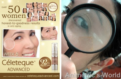 Celeteque Advanced poster and magnifying glass