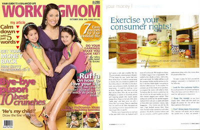 Working Mom Magazine October 2008 issue