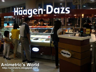 Haagen Dazs store at Robinsons Place Manila