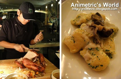 Turkey Carving Station and Porcini and Truffle Gnocchi at M Cafe