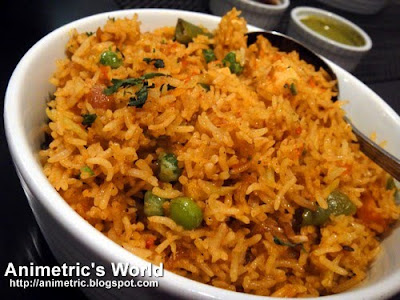 Vegetable Biryani at Legend of India
