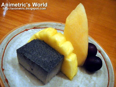 Kurogoma Purin and Fruits Moriawase at Senju, Edsa Shangri-la Hotel
