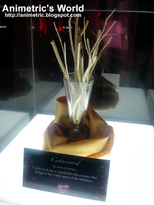 Cedarwood display at the Downy Passion