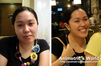 Before and after NuSkin Galvanic Spa II