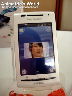 Sony Ericsson Xperia X8 front view