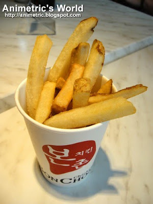 French Fries at Bon Chon Chicken Ayala Triangle