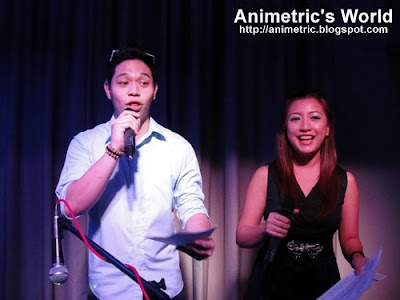 Vince Golangco and Hannah Villasis host the event