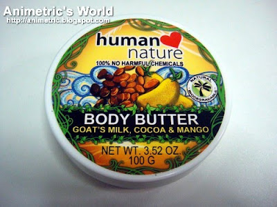 Human Nature Body Butter with Goat's Milk, Cocoa, and Mango