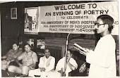 भारत व रुस मॆत्री की 14वीं वर्षगांठ पर आयोजित काव्य-गोष्ठी में कविता पाठ करते हुए.