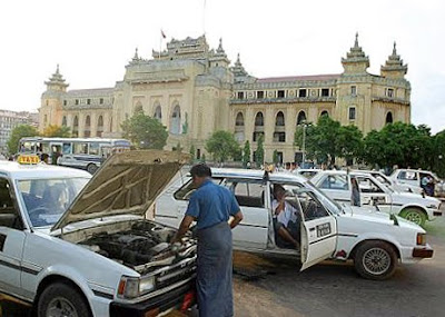 >registered vehicles in Burma