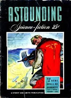Cover by Rogers of Astounding Science-Fiction magazine, February 1942 issue