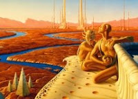 Illustration accompanying the article My Mars by Ray Bradbury in October 2008 National Geographic